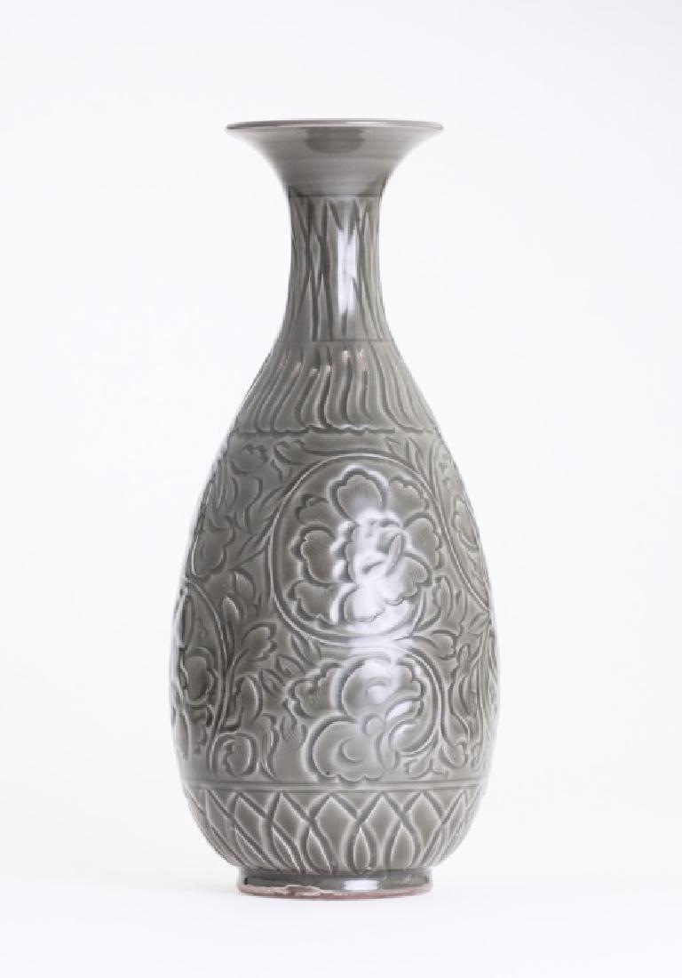 A large Chinese greenish Yao Zhou kiln vase