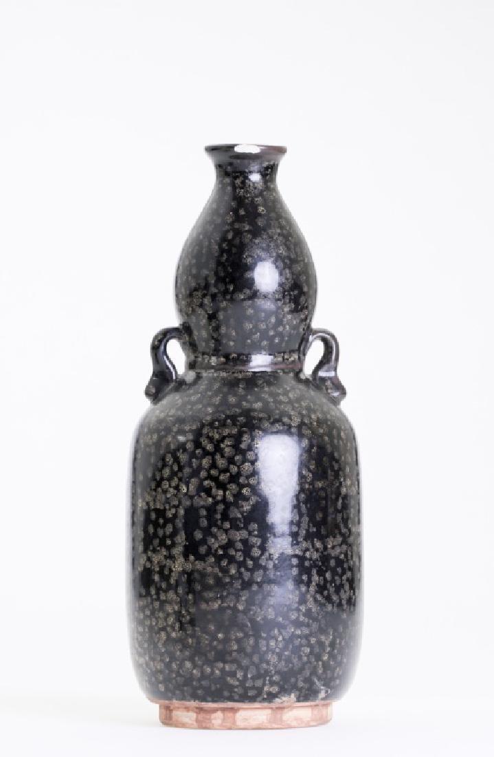 A nice Chinese Ji Zhou kiln blackish vase - 4