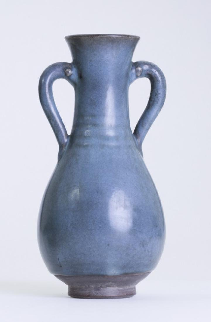 A rare Chinese Jun kiln bottle vase - 3