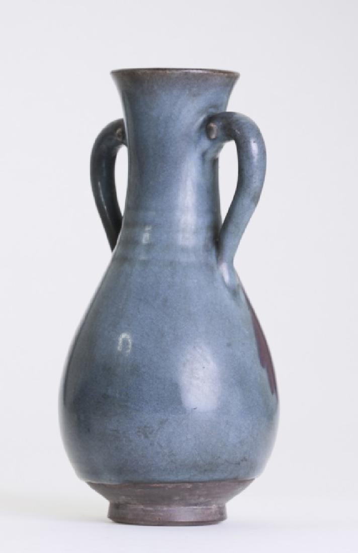 A rare Chinese Jun kiln bottle vase - 4