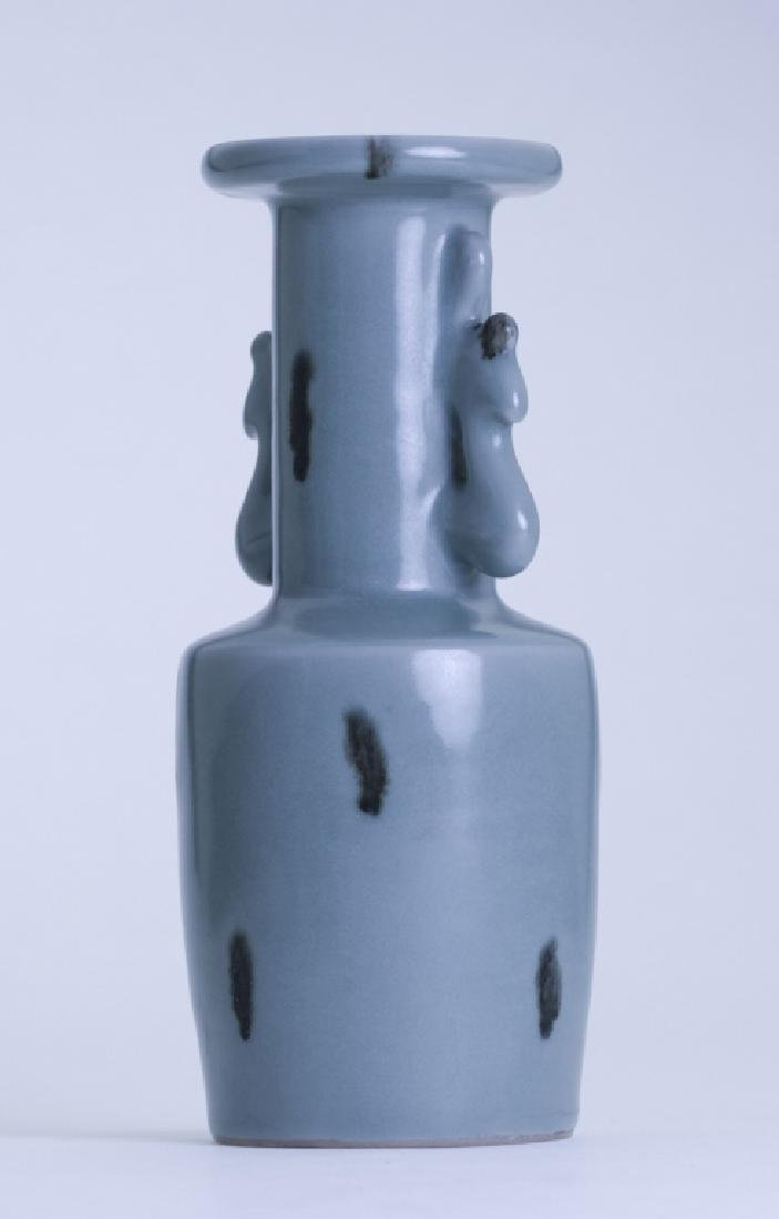 A rare Chinese Long Quan stippling vase - 2