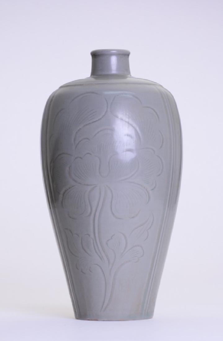 A rare Chinese celadon Mei Ping - 3