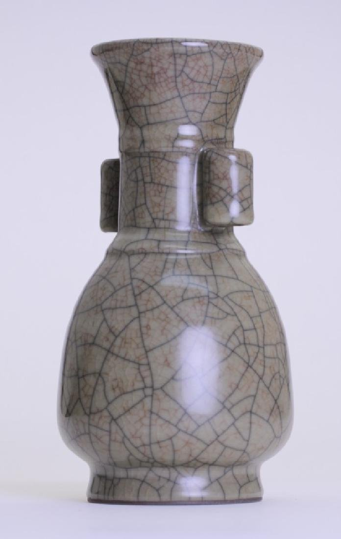 A nice Chinese Ge kiln vase with double ears - 3