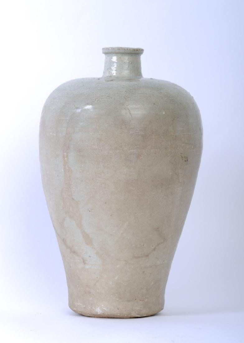 A Chinese Song dynasty whitish Mei Ping vase