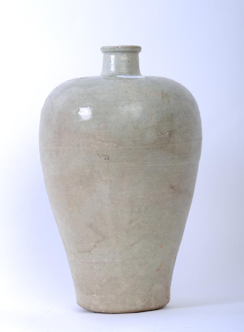 A Chinese Song dynasty whitish Mei Ping vase - 5