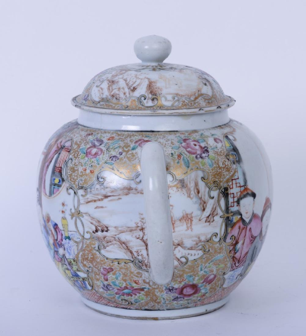 A Chinese export Qianlong famille rose teapot - 5