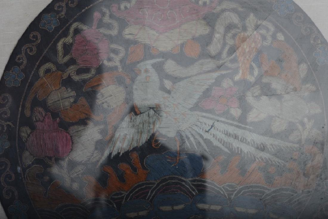 A Chinese silk embroidered badge - 4