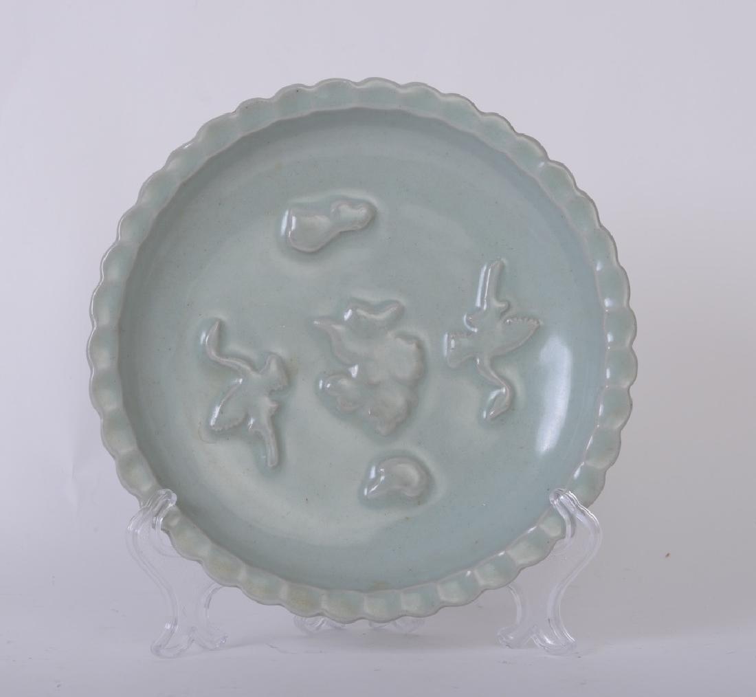 A Chinese ceramic Ru kiln plate