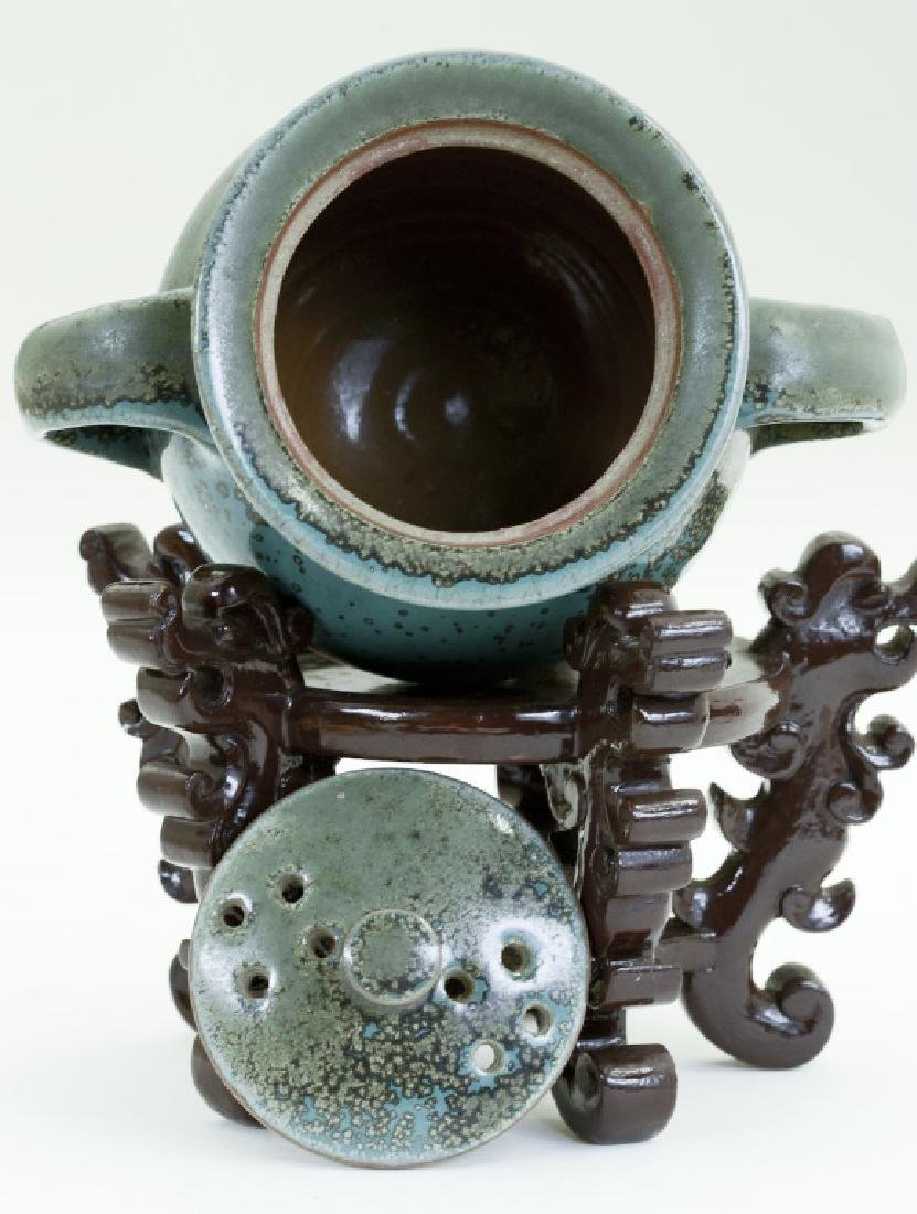 A Chinese Jun kiln three- foot incense burner - 5