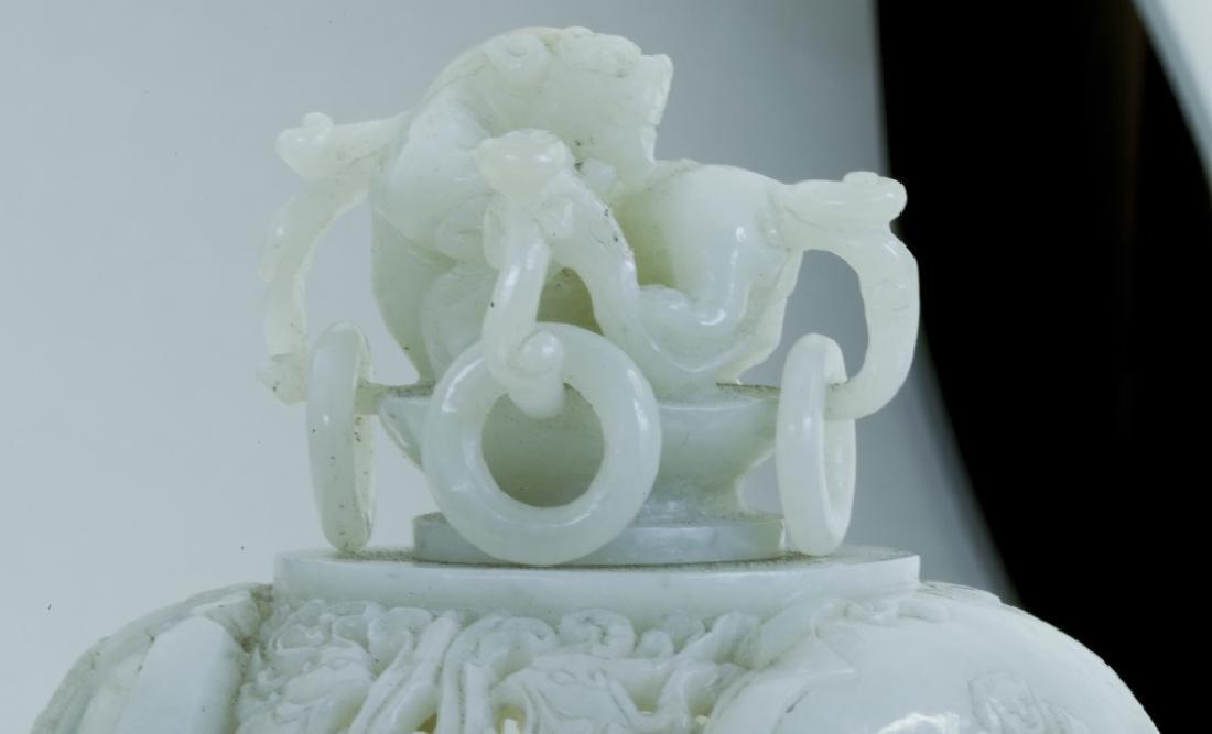 A superb vintage Chinese jade incense burner - 7