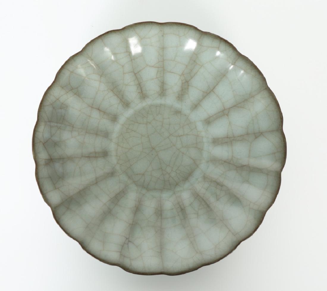 A Song dynasty Guang Yao kiln petals bowl - 3