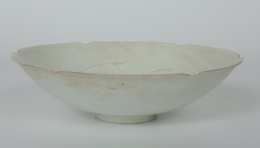 A Chinese Song dynasty Ding Yao petals bowl