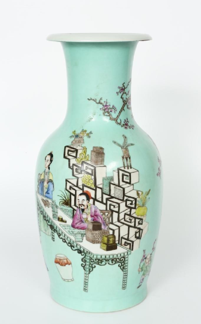 A Chinese Yong Zheng turquoise glaze vase