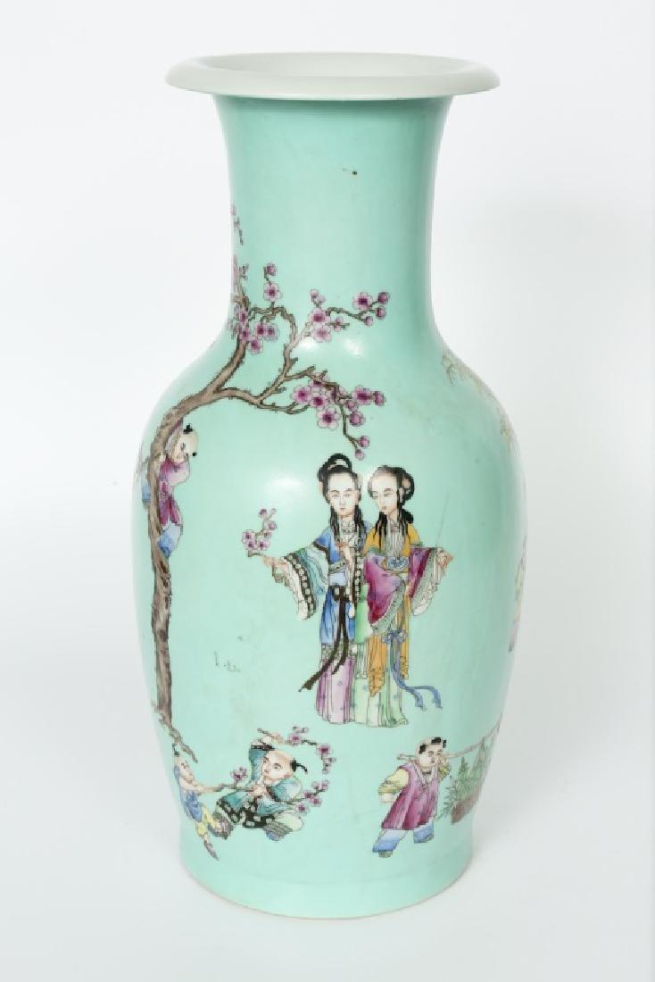 A Chinese Yong Zheng turquoise glaze vase - 2