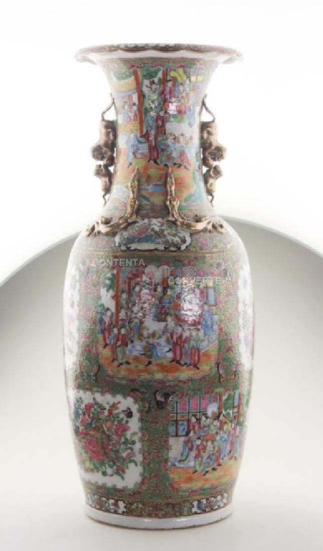 An extra large Chinese rose medallion floor vase