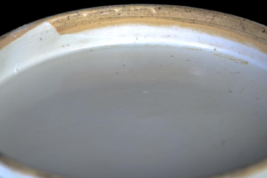 A huge Chinese export rose medallion punch bowl - 10