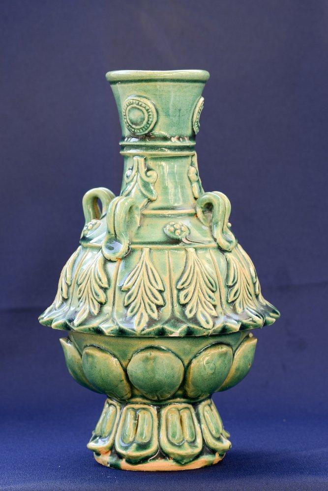 A nice Chinese ceramic greenish glaze vase