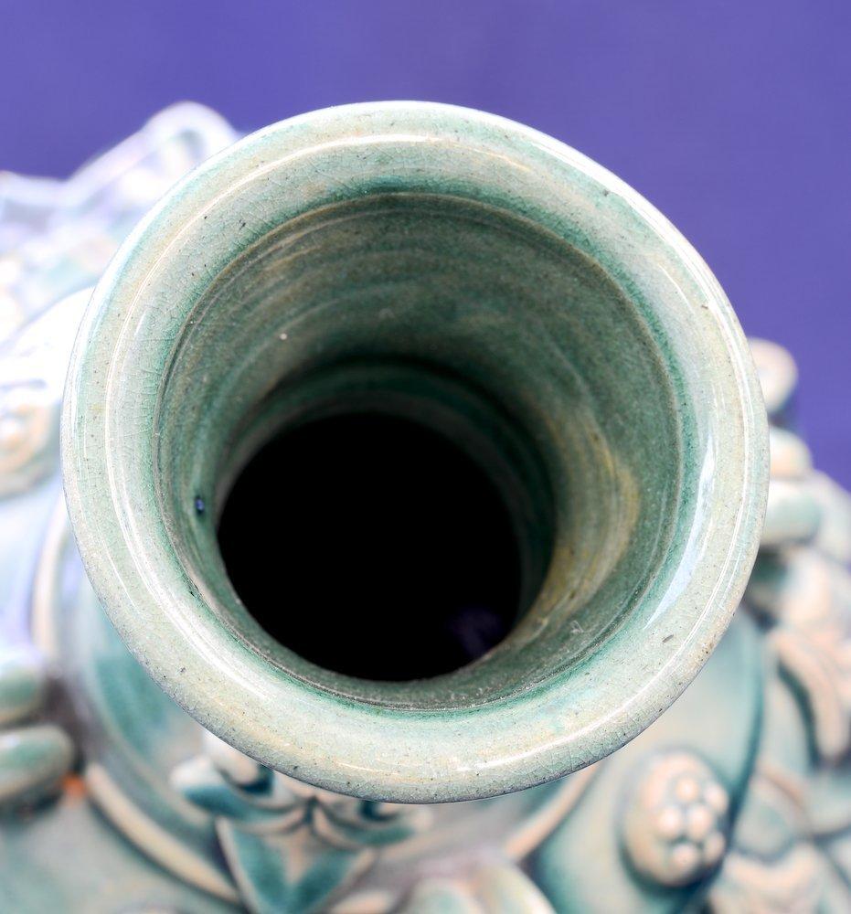 A nice Chinese ceramic greenish glaze vase - 4