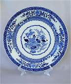 LARGE CHINESE KANG XI BLUE AND WHITE CHARGER PLATE