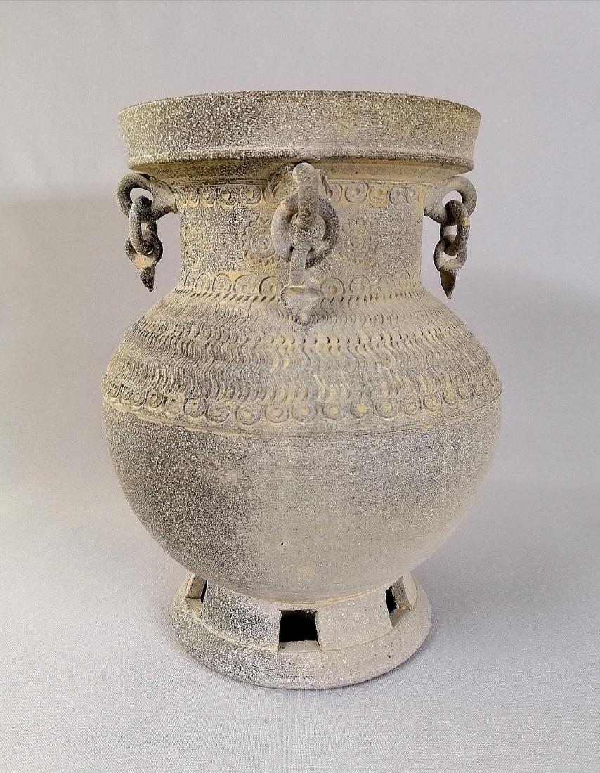 Nice Korean vase of excavated earthenware of Silla