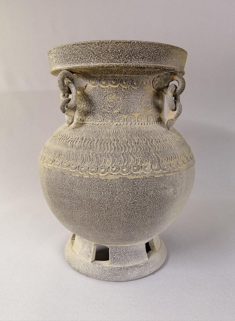 Nice Korean vase of excavated earthenware of Silla - 2