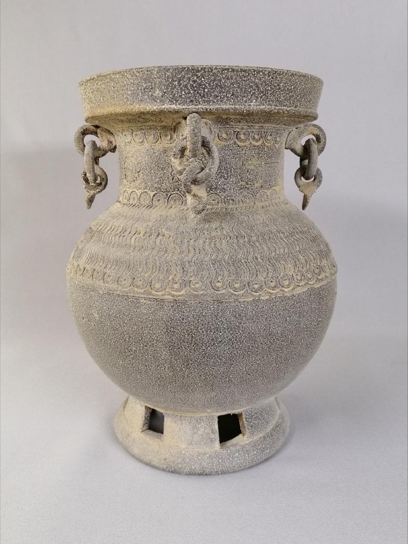 Nice Korean vase of excavated earthenware of Silla - 3