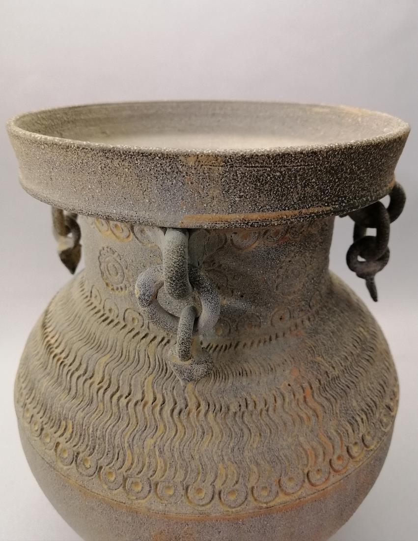 Nice Korean vase of excavated earthenware of Silla - 5
