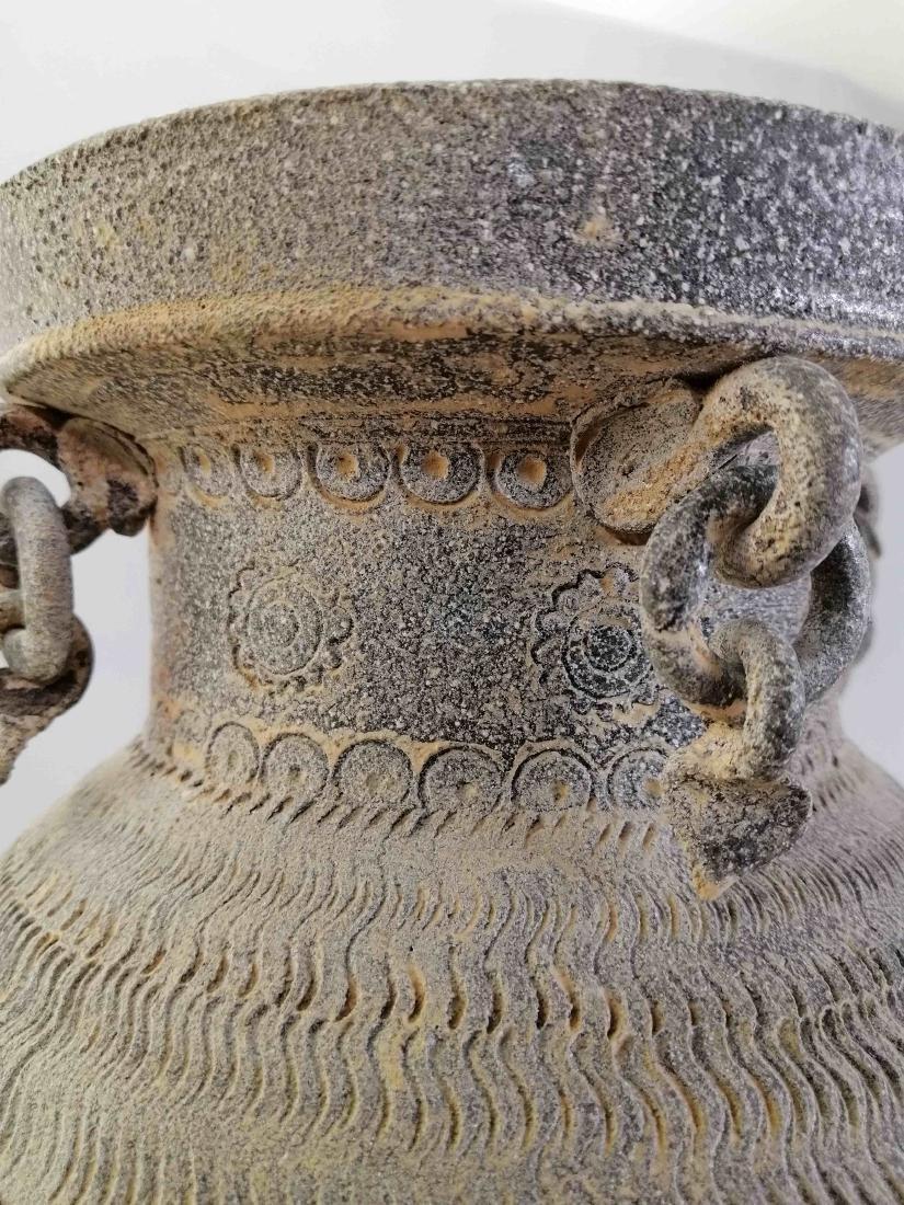 Nice Korean vase of excavated earthenware of Silla - 7