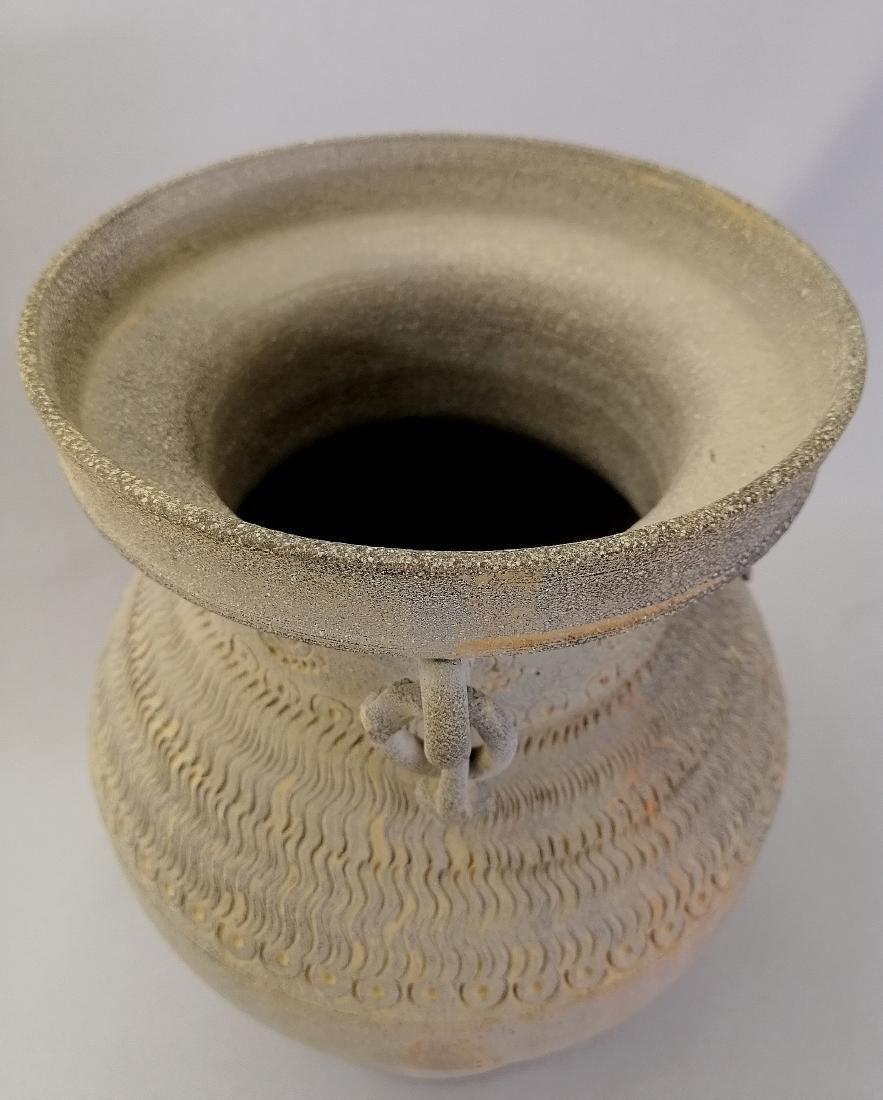 Nice Korean vase of excavated earthenware of Silla - 9