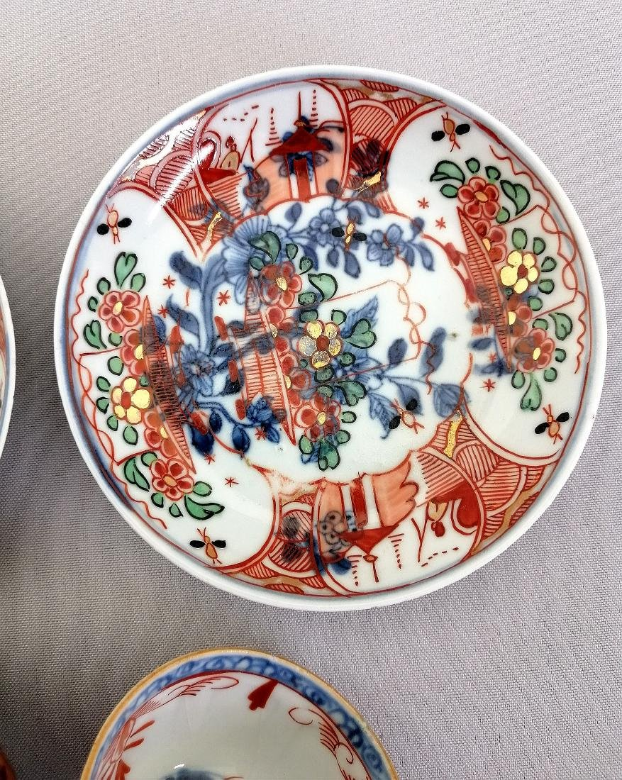 Two sets (four pieces) 18th c. Chinese cups/dishs - 7