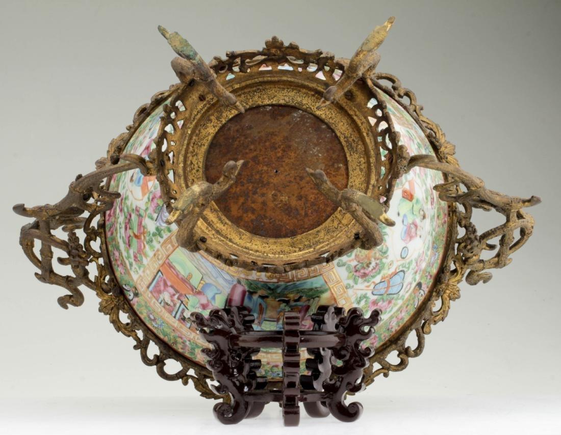 Nice Chinese export rose medallion porcelain bowl - 4