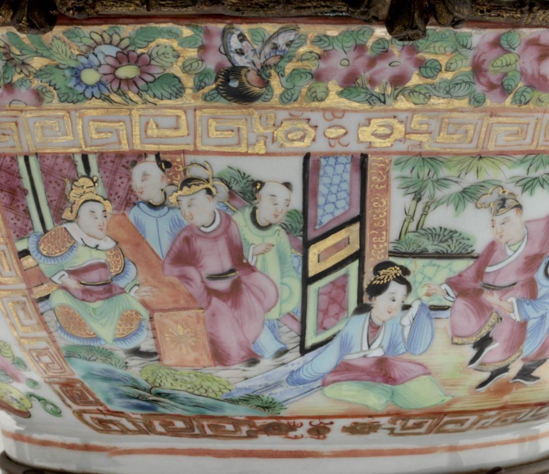 Nice Chinese export rose medallion porcelain bowl - 5