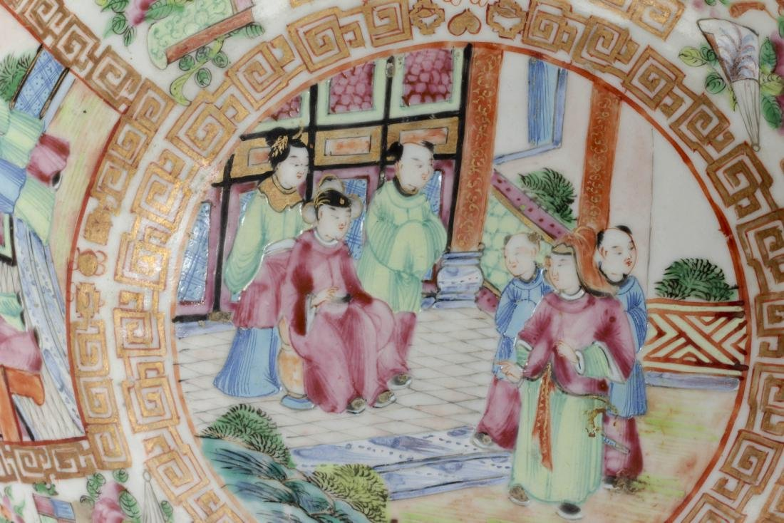 Nice Chinese export rose medallion porcelain bowl - 7