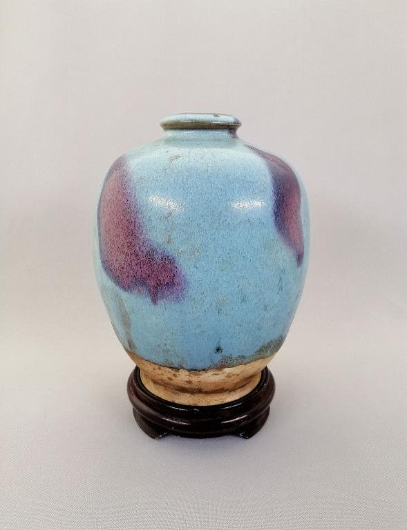 An elegant and very rare large Chinese pottery Jue