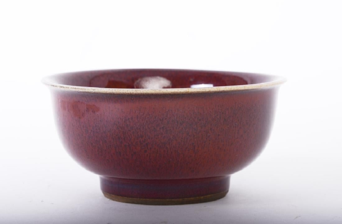 A nice Chinese ceramic red glaze bowl