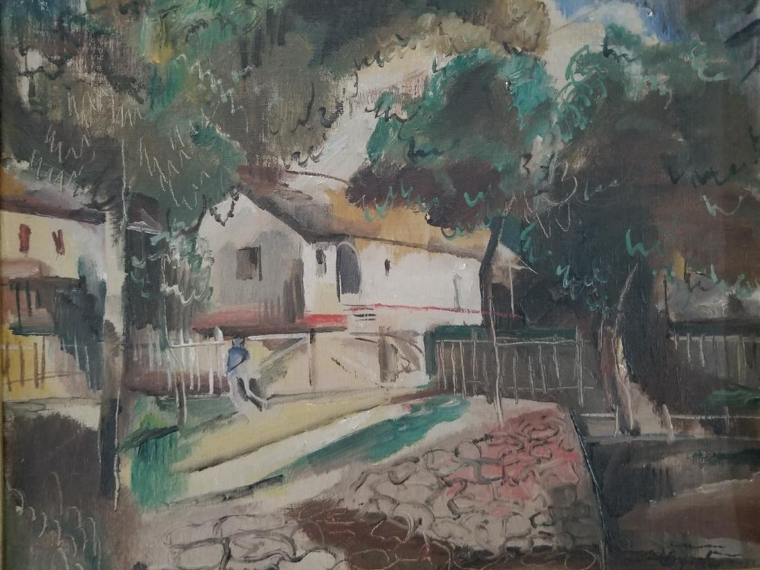 Original 1930 Oil Painting on Cardboard. Signed - 2