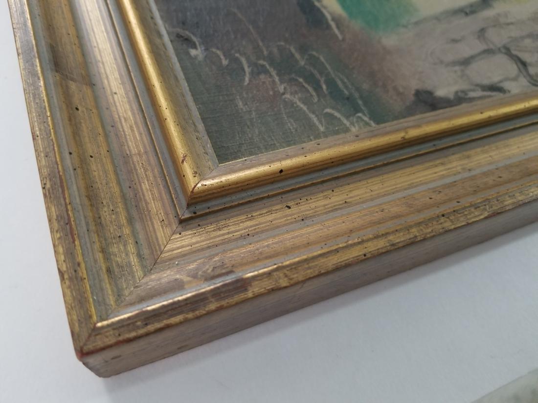 Original 1930 Oil Painting on Cardboard. Signed - 4