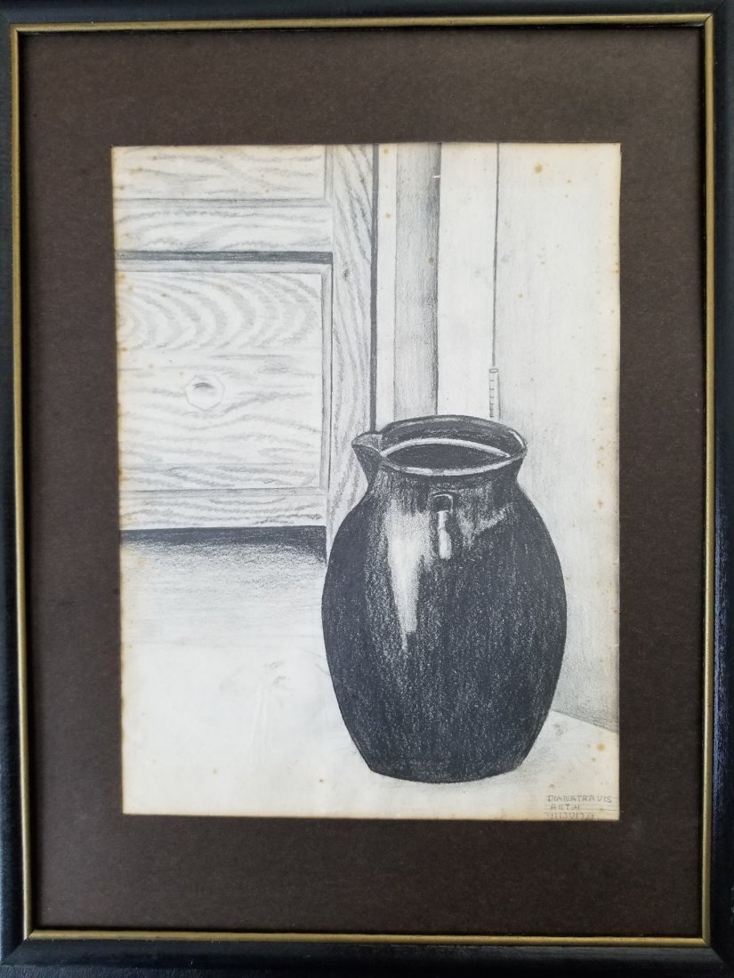 Original Hand Pencil Drawing Signed