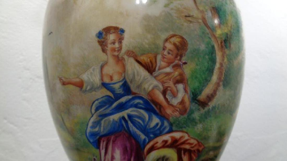 Hand-Painted French Porcelain Table Lamp - 2