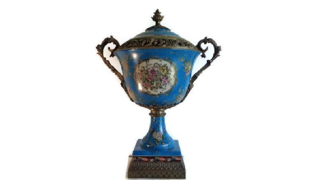 Blue Large Porcelain - Bronze Mount Center Piece