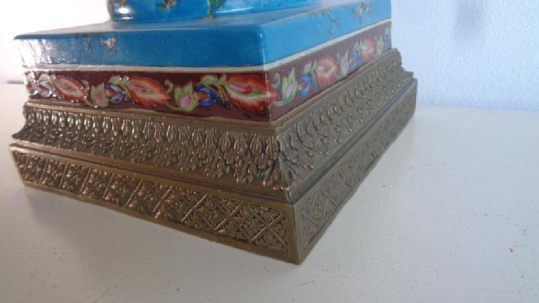 Blue Large Porcelain - Bronze Mount Center Piece - 2