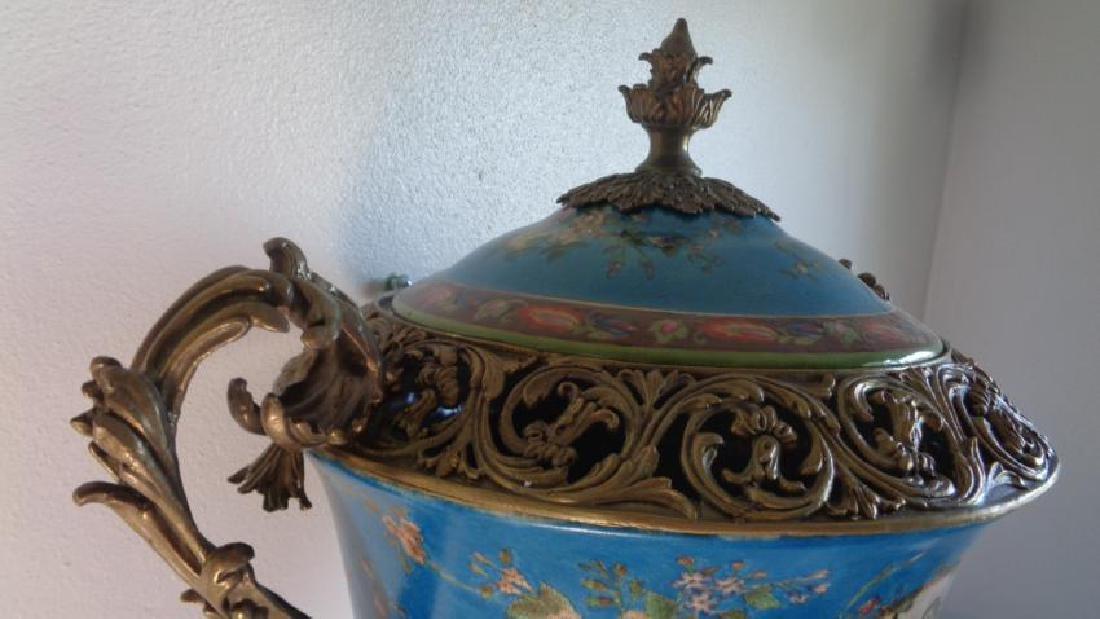 Blue Large Porcelain - Bronze Mount Center Piece - 3