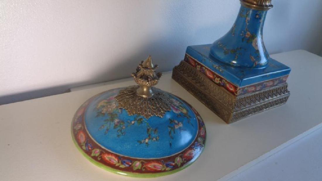 Blue Large Porcelain - Bronze Mount Center Piece - 4