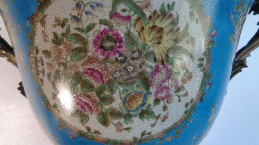 Blue Large Porcelain - Bronze Mount Center Piece - 5