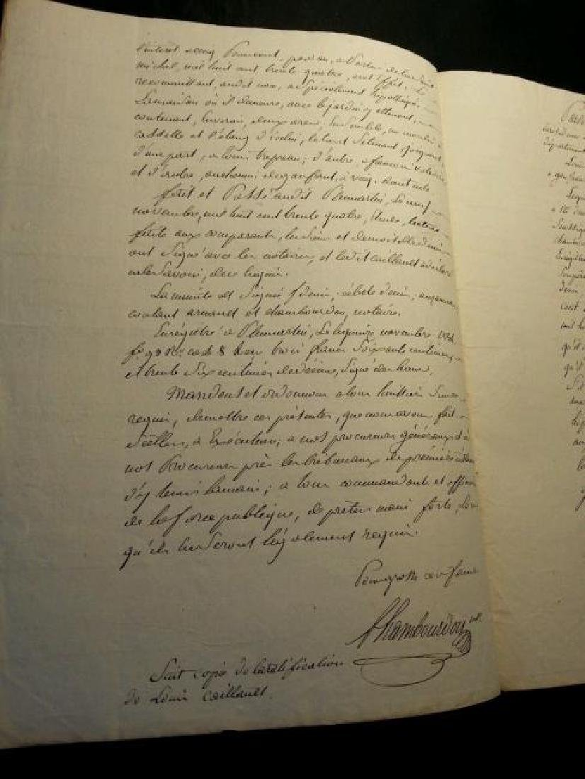 Antique 1834 Notary Document-Stamped. Watermarked. - 3