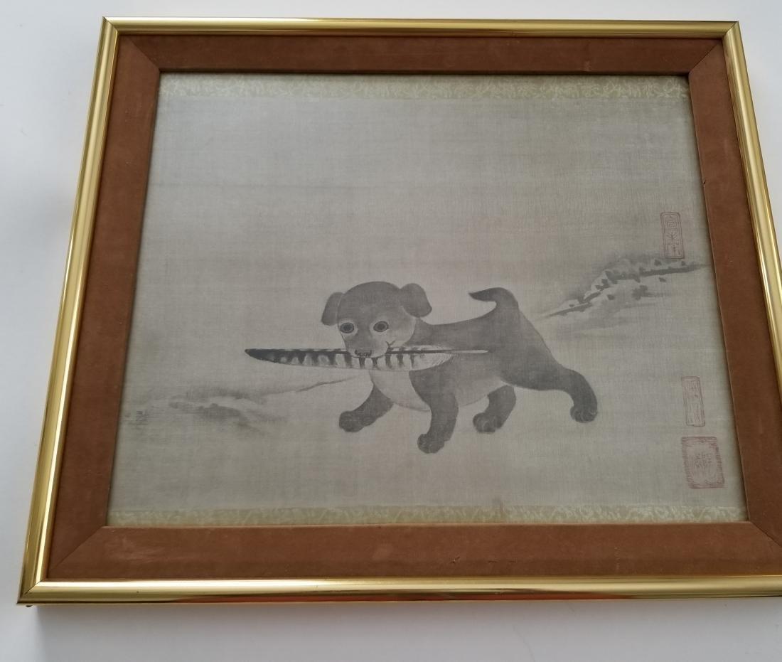 Li Dynasty, 17th Century Watercolor on Silk Signed