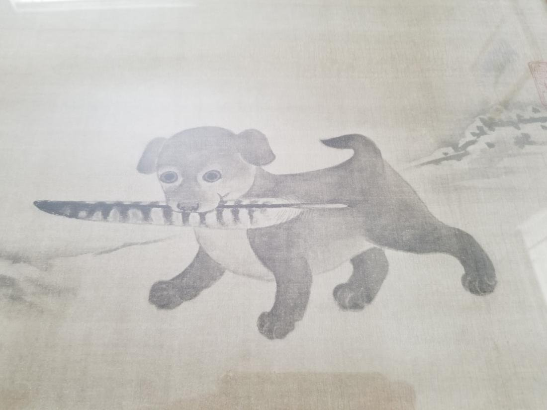 Li Dynasty, 17th Century Watercolor on Silk Signed - 2