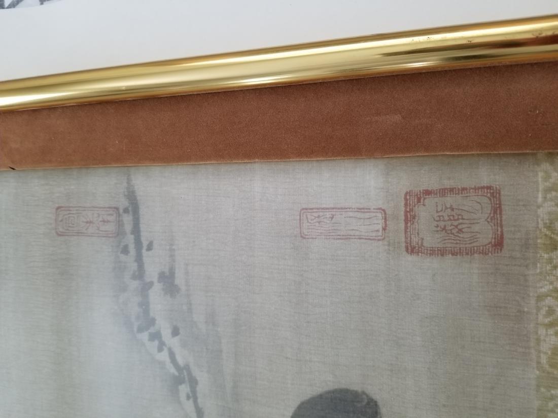 Li Dynasty, 17th Century Watercolor on Silk Signed - 3