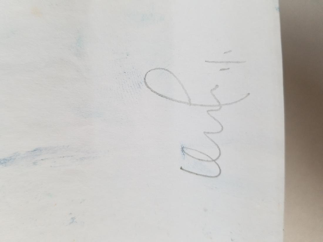 Original Ink Drawing On Paper -Charles Chaplin- Signed - 3