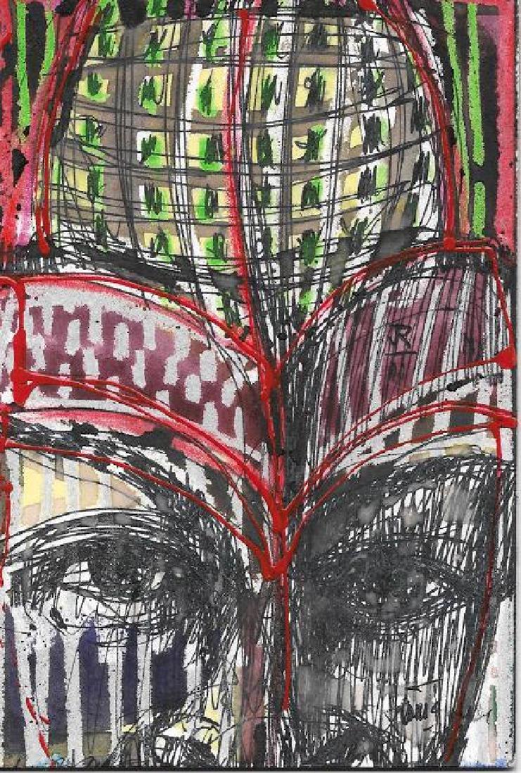 Original J Rivera Modern New York Painting 2011 Signed